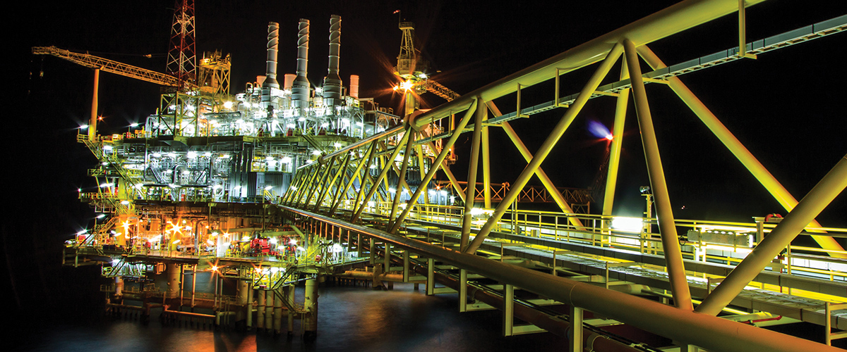 A huge and complex petrochemical plant.